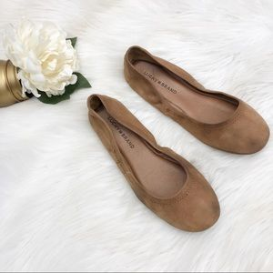 Lucky Brand Emmie Brown Leather Flats Sz 8